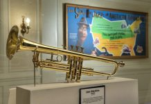 Louis Armstrong's Trumpet on Display