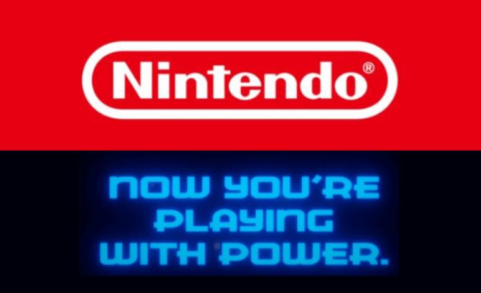 Nintedo logo with slogan