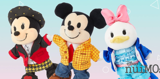 Minnie Mouse, MIckey Mouse and Daisy Duck NuiMos. Minnie is dressed as the Queen of Hearst, Mickey is dressed as Woody and Daisy is dressed like Bo Peep