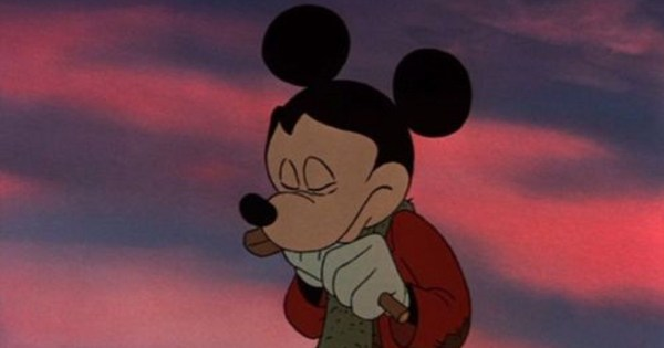 Mickey Mouse looking sad from Disney's Scrooge film