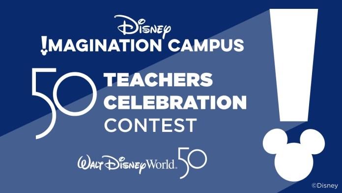 Disney 50 Teachers celebration contest