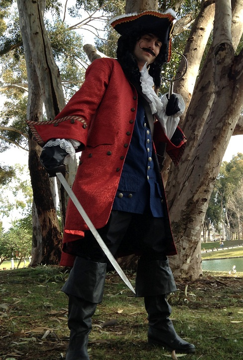 Captain Hook for hirefor a kids birthday pirate party
