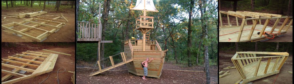 playhouse plans pirate ship
