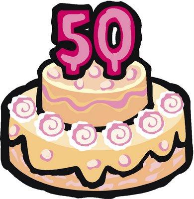 50th Happy Birthday Free Greeting Card