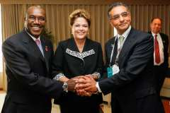 Fadi Chehadé with President Rousseff and Dr. Hamadoun Touré