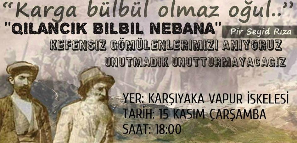 Seyit Rıza ve arkadaşları İzmir'de de anılacak