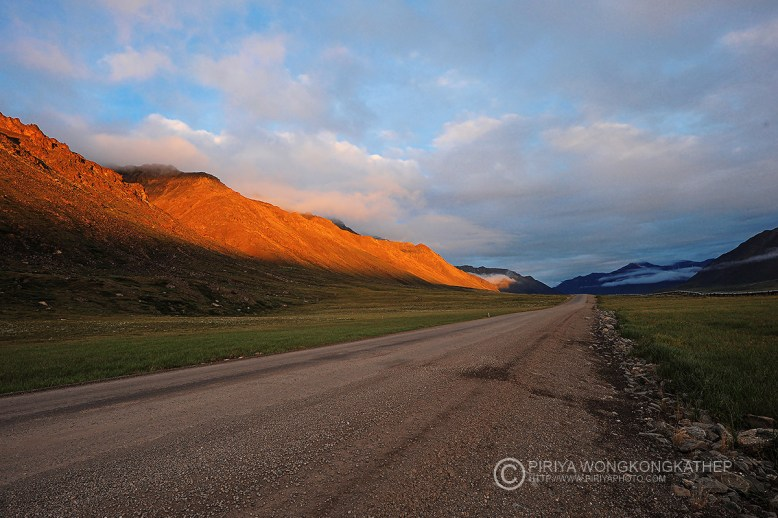 dirt road with mountain