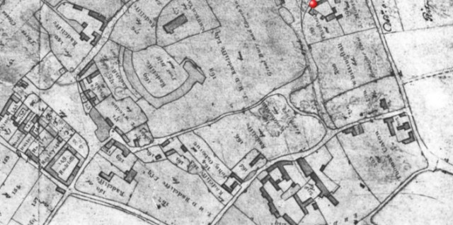 """1811 Pre enclosure plan made by the surveyors before the """"great land swop"""" at enclosure"""