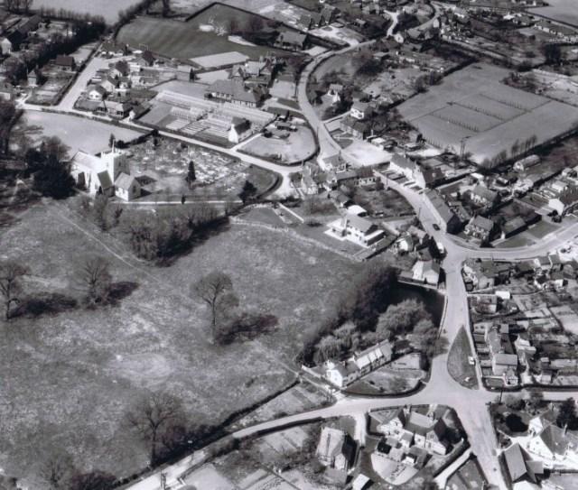 Aerial photo of Little Green circa 1964