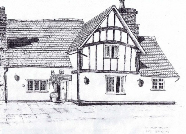 A sketch by Howard Etherington.