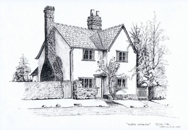 Howard Etherington sketched Three Gables for its owner Michael Gander.