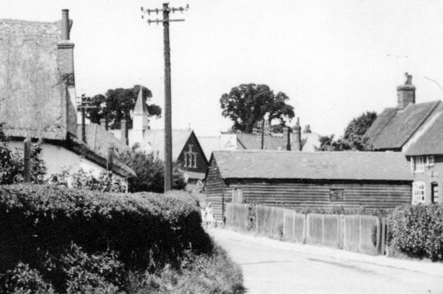 The Fox barn at the entrance to Colemans Close. The land attached to the Fox was always called Colemans.