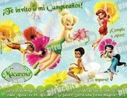 Invitación cumpleaños Campanilla #01-0