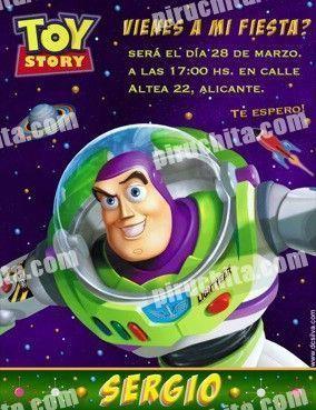 Invitación cumpleaños Toy Story #04-0