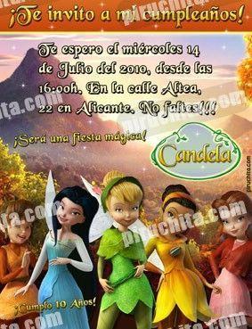 Invitación cumpleaños Campanilla #06-0