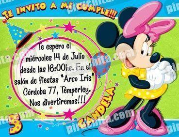 Invitación cumpleaños Mickey y sus amigos #07-0