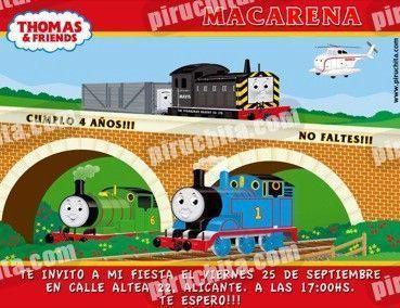 Invitación cumpleaños Thomas y sus amigos #07-0