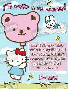 Invitación cumpleaños Hello Kitty #09-0