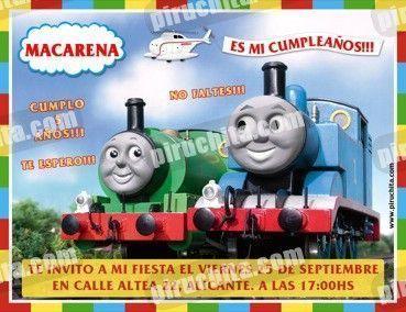 Invitación cumpleaños Thomas y sus amigos #11-0