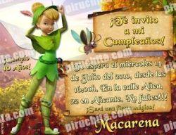 Invitación cumpleaños Campanilla #12-0