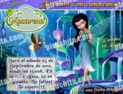 Invitación cumpleaños Campanilla #17-0