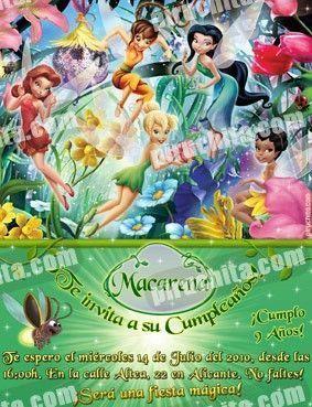 Invitación cumpleaños Campanilla #19-0