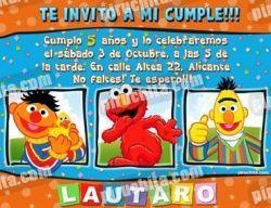Invitación cumpleaños Barrio Sesamo #1-0