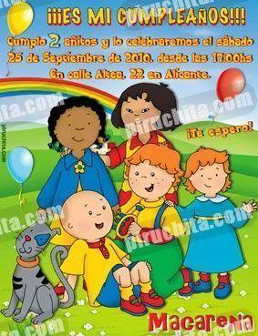 Invitación cumpleaños Caillou #03-0