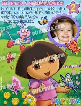 Invitación cumpleaños Dora la Exploradora #07-0