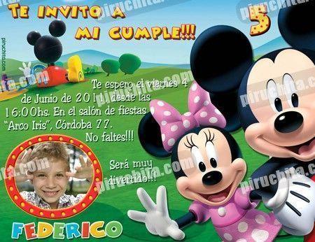 Invitación cumpleaños La Casa de Mickey #01-0