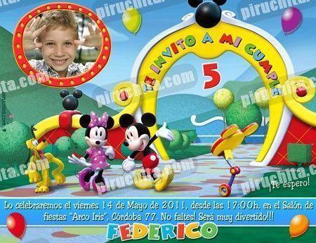 Invitación cumpleaños La Casa de Mickey #02-0
