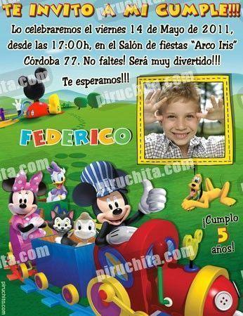 Invitación cumpleaños La Casa de Mickey #03-0