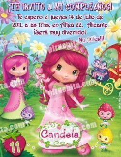 Invitación cumpleaños Tarta de fresa #06-0