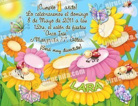 Invitación cumpleaños Primavera/Jardín #02-0