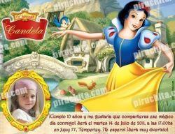 Invitación cumpleaños Blancanieves #03-0
