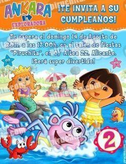 Invitación cumpleaños Dora la Exploradora #08-0
