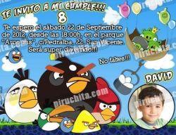 Invitación cumpleaños Angry Birds #02-0