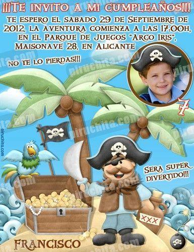 Invitación cumpleaños Piratas #06-0