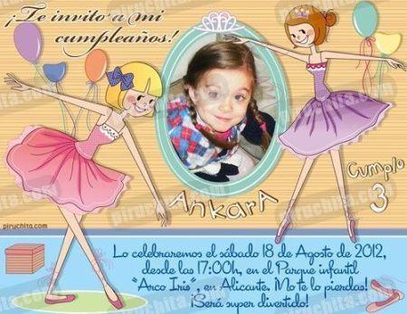Invitación cumpleaños Ballet #07-0
