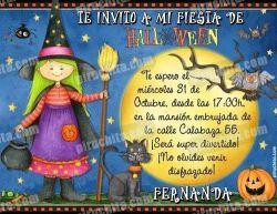 Invitación fiesta de Halloween #04-0