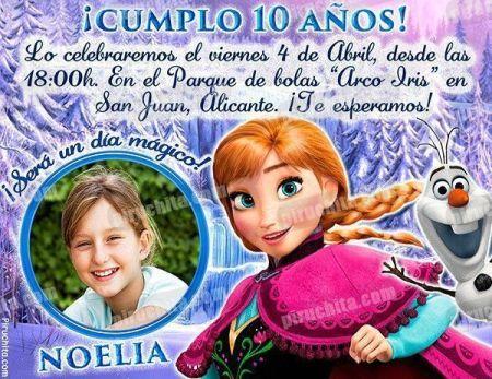 Invitación cumpleaños Frozen #04-0