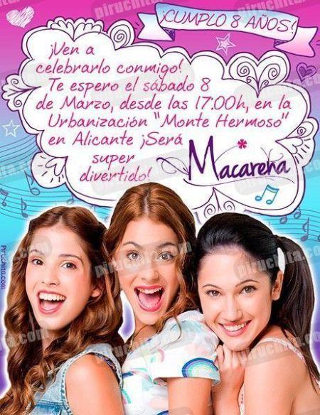 Invitación cumpleaños Violetta #03-0
