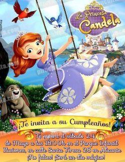 Invitación cumpleaños La Princesa Sofía #04-0