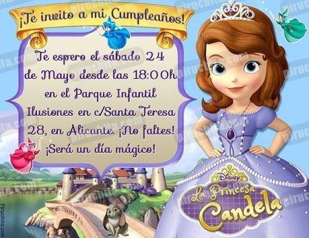 Invitación cumpleaños La Princesa Sofía #01-0