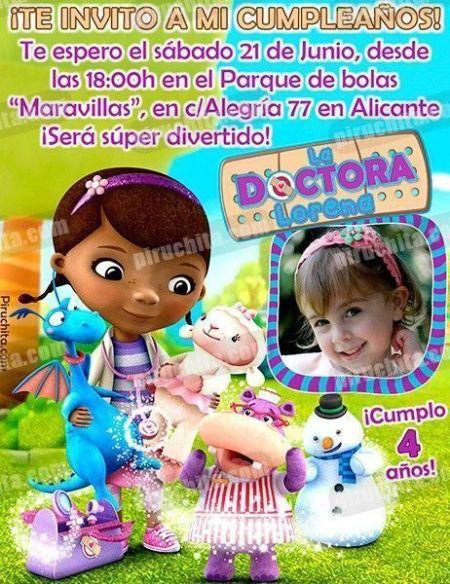 Invitación cumpleaños La Doctora Juguetes #01-0