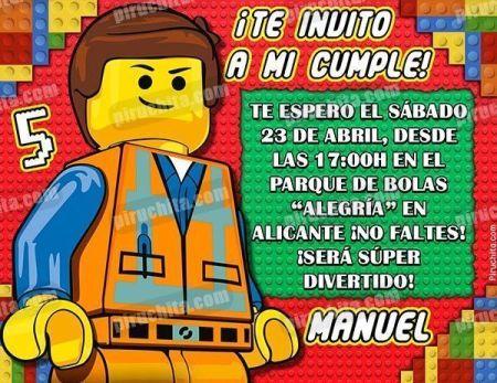 Invitación cumpleaños Lego #01-0