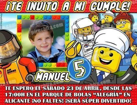 Invitación cumpleaños Lego #02-0