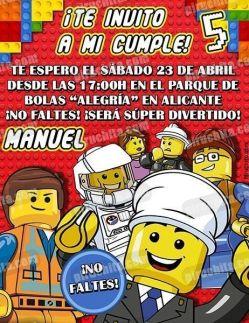 Invitación cumpleaños Lego #04-0