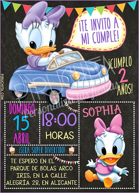 Invitación cumpleaños Mickey Baby y sus amigos #04 | Digital Imprimible