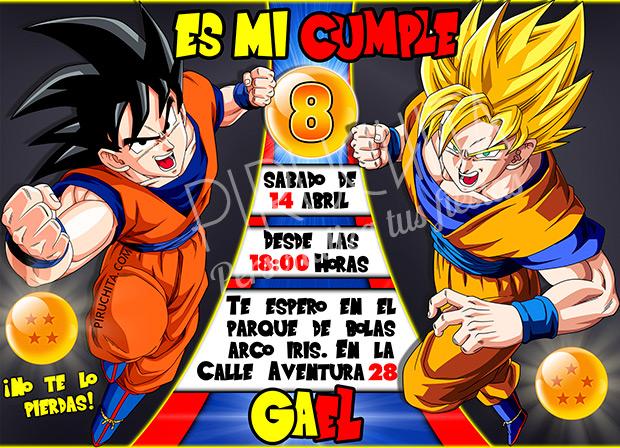 Invitación cumpleaños Dragon Ball #01 | Digital Imprimible